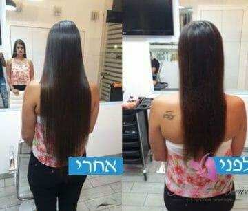 התאמת תוספת שיער לאישה