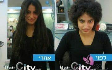 תוספות שיער תמונות לפני ואחרי