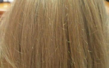 תמונת אחרי תוספות שיער