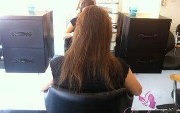 תוספות שיער לפני